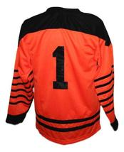 Any Name Number Philadelphia Quakers Retro Hockey Jersey Orange Any Size image 2