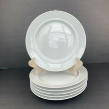 """Set of 6 DANSK International Designs Cafe Blanc 9"""" Salad Plates White Th... - $59.39"""
