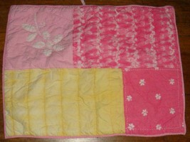 Pottery Barn Kids Tie Dye Quilted 2 Standard Pillow Shams Pink Yellow Hearts - $29.67