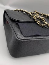 NEW AUTHENTIC CHANEL BLACK CAVIAR QUILTED JUMBO DOUBLE FLAP BAG GHW image 5