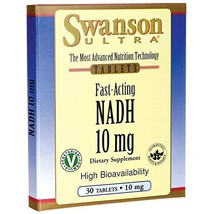 Swanson Fast-Acting Nadh High Bioavailability 10 Milligrams 30 Tabs - $15.24