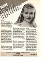 Josie Davis teen magazine pinup clipping Ask Josie problems with friends Teen