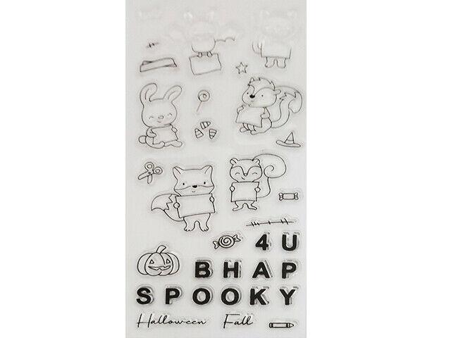 Happy Halloween Animals Stamp Set with Coordinating Dies #5464