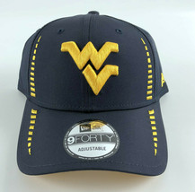 West Virginia Mountaineers New Era 9Forty Baseball Strapback Hat Blue Ye... - $21.77