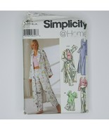 Simplicity @ Home 5877 Sewing Pattern Misses M-XL Pjs Nightgown Robe Top... - $7.91