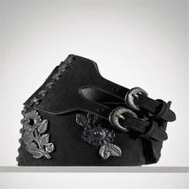 Ralph Lauren Collection Black Suede & Leather Corset Belt Size M Nwt $1950+ - $1,485.00