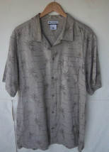 COLUMBIA - Men's  Beige Marlin & Palm Tree Button Front Shirt -- Size L - $17.99