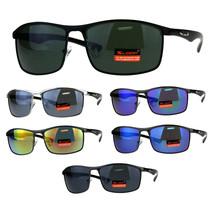 Xloop Mens Rectangular Metal Rim Warp Sport Sunglasses - $12.95