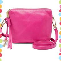 Fossil Women's Maya Crossbody Hot Pink Bag Leather  ZB7229694 - $84.15