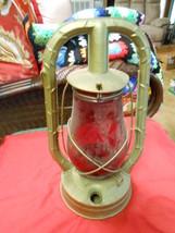 "Vintage Primative DIETZ ""Monarch"" Railroad Lantern ...""RUBY RED"" Globe..... - $46.53"