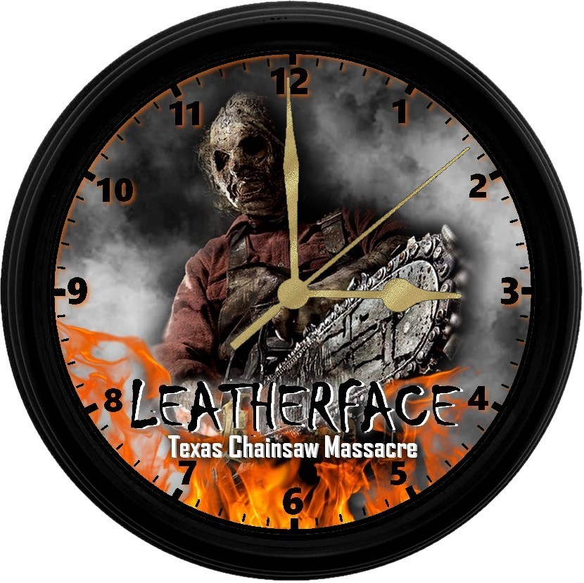 Primary image for Leatherface, 8in. Unique Homemade Wall Clock, Battery Included