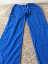 Cherokee Women's Work Uniform Medical Scrub Pants Sz S Blue Bottoms - $33.60
