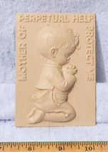 Vintage Wall Hanging Plastic Praying Boy mv - $4.94
