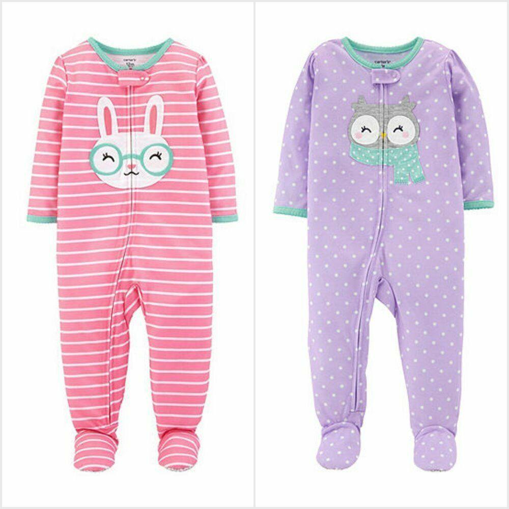 Girls Carter/'s Llama Sleeper One Piece Pajamas NWT