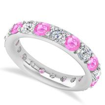 2.85 Ct Round Real Diamond & Tourmaline 14K Gold Full Eternity Wedding B... - €778,15 EUR