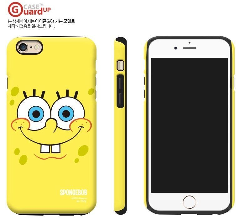 SpongeBob Guard Up Matte Case iPhone X,7,7 Plus Hard Silicone Cover Mobile Skin