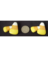 Candy Corn Button Covers - Set of 2  - $6.00