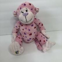 "Ganz Webkinz Pink Heart Plush Stuffed Animal Love Monkey red & purple hearts 9"" - $5.00"