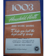 Vintage 1003 Household Hints Book From Old Kent Bank 1948 - $4.99