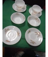 WHITE Opal Type Dinnerware Signed F -2 Cups & Saucers-2 Berry & 2 FREE S... - $8.72