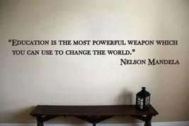 Nelson Mandela Inspirational Classroom School Quote Vinyl Sticker Decal  - $14.99+