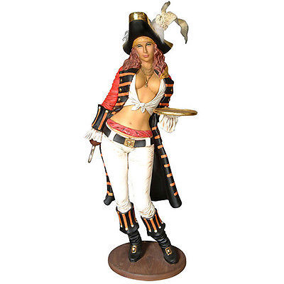 "Primary image for Lady Pirate Statue w/ Hook Life Size 77""H"