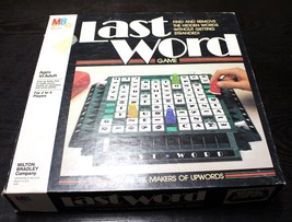 Last Word Board Game Vintage 1985 Milton Bradly UpWords  Great Condition - $7.30