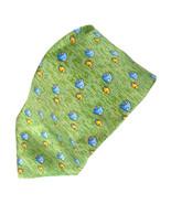 Tommy Hilfiger Blue Orange Tropical Fish Green Silk Tie Necktie - $15.83