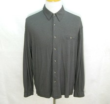 COLUMBIA GRT Men's Solid Gray Long Sleeve Button Front Shirt (Size Large) Rayon - $12.95