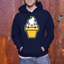 Pullover Hood Funny Ice Cream Food Foody Clothing Unisex Hoodie Sweatshirt - $31.99+