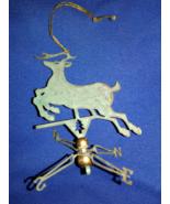 Reindeer Tin Weather Vane Christmas Ornament Vintage Pre-owned  - $12.00