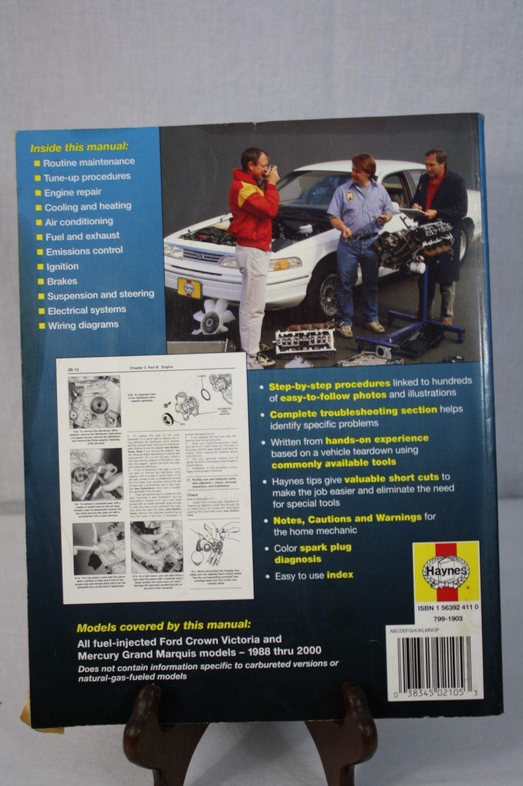 ... Haynes Repair Manual Ford Crown Victoria & Mercury Grand Marquis 1988-  ...