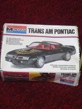 TRANS AM PONTIAC '77-T TOP-MONOGRAM CAR MODEL KIT #2247 G/VG - $37.35