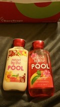 BATH AND BODY WORKS SUNSET BY THE POOL  BODY LOTION, SHOWER GEL - $17.81