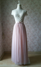 PINK Long Tulle Skirt Pink Bridesmaid Tulle Skirt Outfit Bow-knot image 5