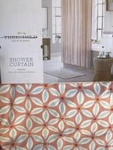 "Threshold Pinwheel Coral Blue Shower Curtain  Fabric 72"" H x 72"" W - $19.79"