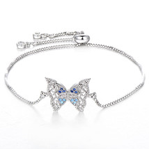 Pipitree Gorgeous Hollow Butterfly Bracelet Femme Cubic Zirconia Rose Go... - $13.20