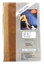 NEW KORUS WOMEN'S CONTROL TOP STOCKINGS PANTYHOSE ONE SIZE FRENCH COFFEE P-777 image 2