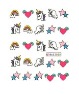 Water Transfer Watermark Art Nails Decal Sticker Manicure Unicorn Wings ... - $3.10