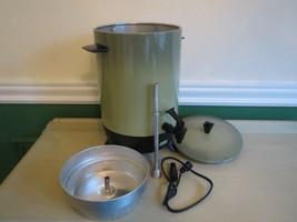Mid Century Mirro Matic Electric Coffee Pot Peculator Maker Avocado Gree... - $17.33