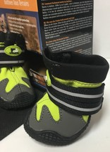 """Pet All Road Boots Sz Small (2"""") Neon Green & Gray 4 In Set  image 6"""