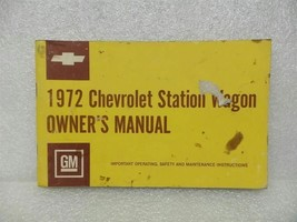 1972 Chevrolet Chevy Station Wagon Sw Wgn Owners Manual 15996 - $16.82