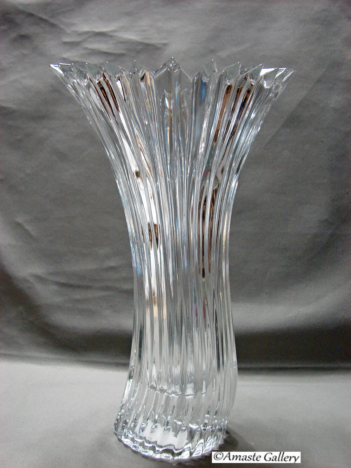 Mikasa crystal diamond fire curved vase and 50 similar items mikasa crystal diamond fire curved vase reviewsmspy