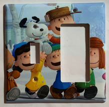Peanuts Snoopy Charlie Brown Lucy Light Switch Outlet wall Cover Plate decor image 5