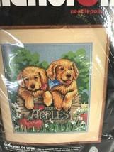 "Dimensions Needlepoint Crate Full of Love Designer Fitzpatrick 12x14"" Vtg 1990 - $44.54"