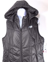 NEW BALANCE WOMEN'S BLACK PRINT PADDED HOODED VEST SZ XL - $54.99
