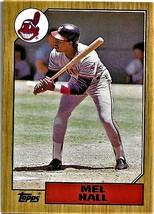 1987 Topps Baseball Card, #51, Mel Hall, Cleveland Indians - $0.99