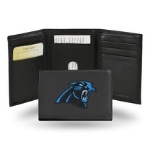 Carolina Panthers Wallet Embroidered Trifold Official NFL RICO Leather Black - $33.45