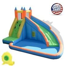 Inflatable Water Slide Bounce House Kids Jumper Sprayer Castle Park Blow... - $582.67