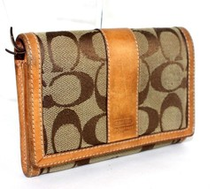 Authentic COACH C logo fabric canvas leather Be... - $89.10